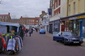 Wisbech Market Place Shops 'Wisbech Angling' & 'The Phone Shop'. Copyright Owen Smithers