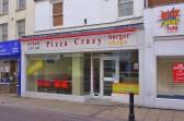 Wisbech.High Street Shop 'Pizza Crazy'. Copyright Owen Smithers