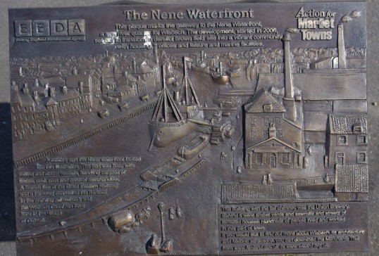 Wisbech Port Development Plaque on Freedom Bridge Town Side. Copyright Owen Smithers Photographed 16/4.2012