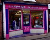 Wisbech Shops Norfolk Street Lingerie & Body Piercing. Copyright Owen Smithers