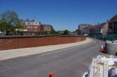 Wisbech Flood Defences Nene Quay. The final touch. Copyright Owen Smithers