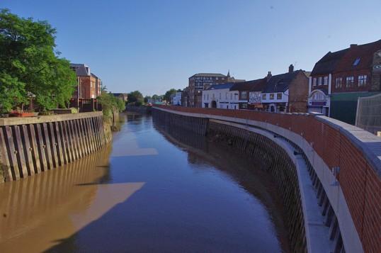 Wisbech Flood Defences Nene Quay. Copyright Owen Smithers