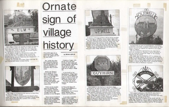 Newspaper Report Featuring Ornate Signs Visually Detailing The
