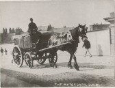 """""""The Watercart"""" on deliveries crossing the Town Bridge,  Wisbech"""
