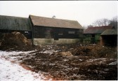 Barns in the Slade prior to conversion to a house