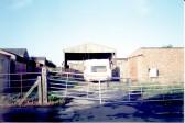 Saberton's farmyard in Silver Street prior to redevelopment