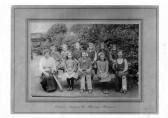 Witcham Girls Cricket Team. Esther Hodson,Lily Canham, Anne Sulman, Ida Tall, Nancy Papworth, Lynda Johnson, Rene Smith.