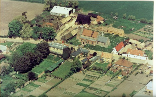 Aerial photograph of the High Street, Witcham