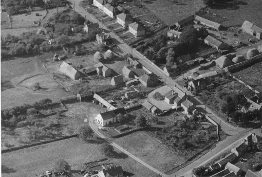 Aerial View of Silver Street and the Slade, Witcham