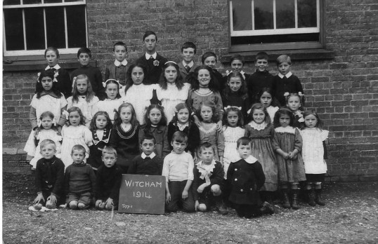 Witcham School Photograph, 1914.