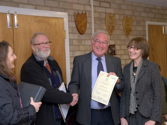 Parish Council Quality Mark 6th December 2011