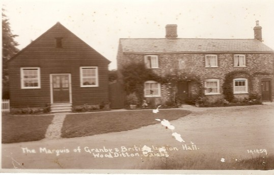 Marquis of Granby and British Legion Hall,Woodditton. About 1970.Hall now demolished.