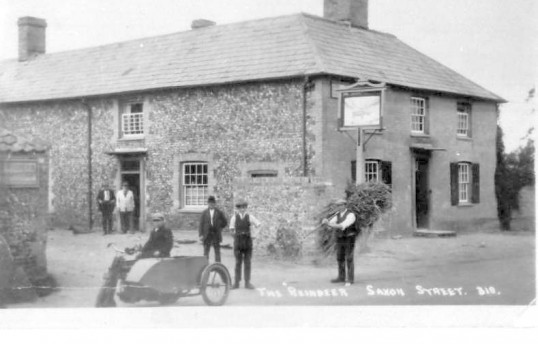 Saxon Street Reindeer public house, - about 1920.