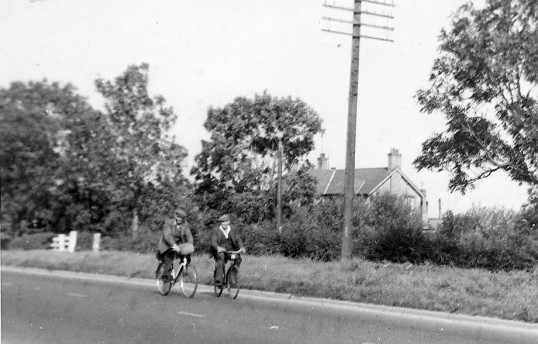 George Stratton & Misty Beeby on London Rd Yaxley where the traffic lights are now leading onto Ferndale housing estate.