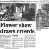Yaxley St Peters Flower Festival,with members of the Flower Club.