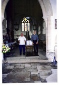 Local History Exhibition, in St. Peters Church, Yaxley, with Eric Day and Peter Long.