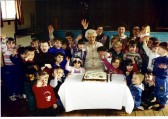 Yaxley Play Group celebrating the 75th Anniversary of the opening of the Public Hall  with Mrs D Anthony centre