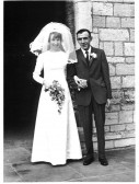 Miss M.A Strickson, and Mr Harry Strickson, at St Peters Church Yaxley.