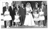 Wedding of Miss Pearl Woodbridge, and Mr John Strickson. at St Peters Yaxley.