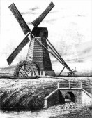 A sketch of a water drainage mill