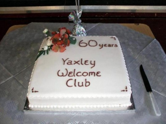 Yaxley Welcome Club 60th Birthday Cake