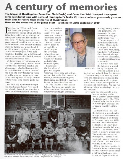 ad55774c3db8f James Scott's memories as a child living in Huntingdon. ( source, About  Town Community News.)