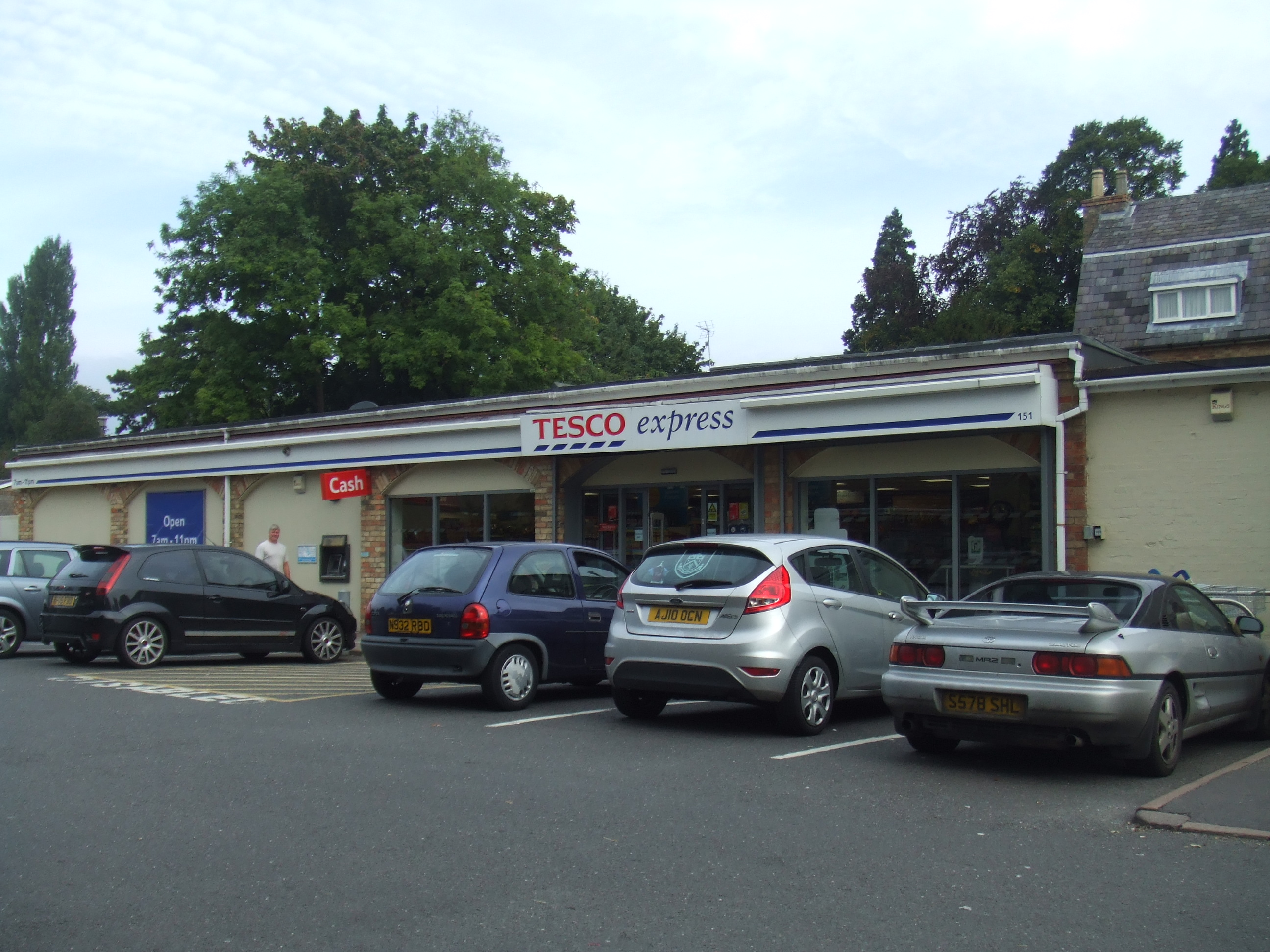 Tesco Express Stores In Eaton Socon Opposite The Church In