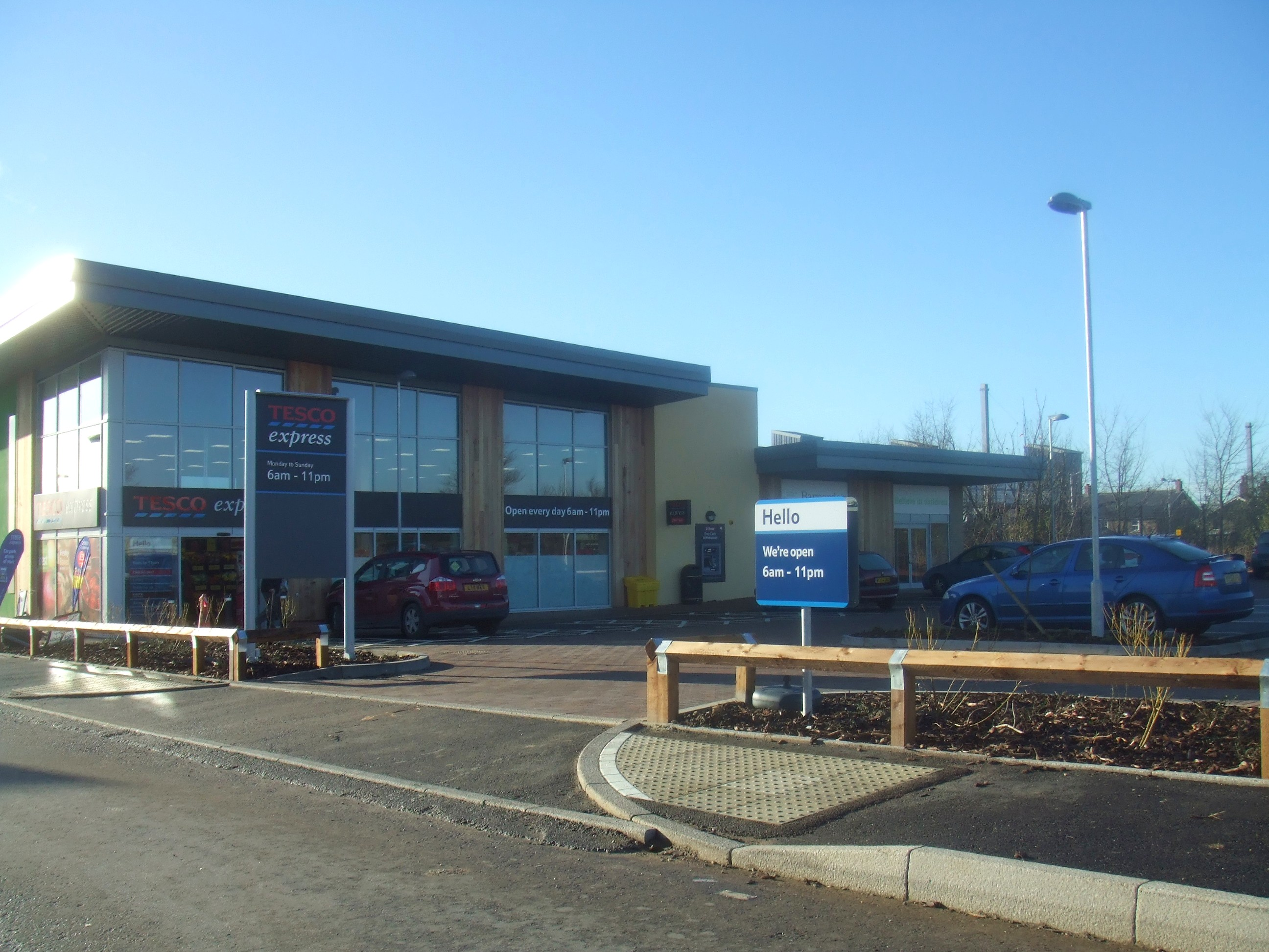 Tesco Express At Loves Farm Newly Opened In December 2013