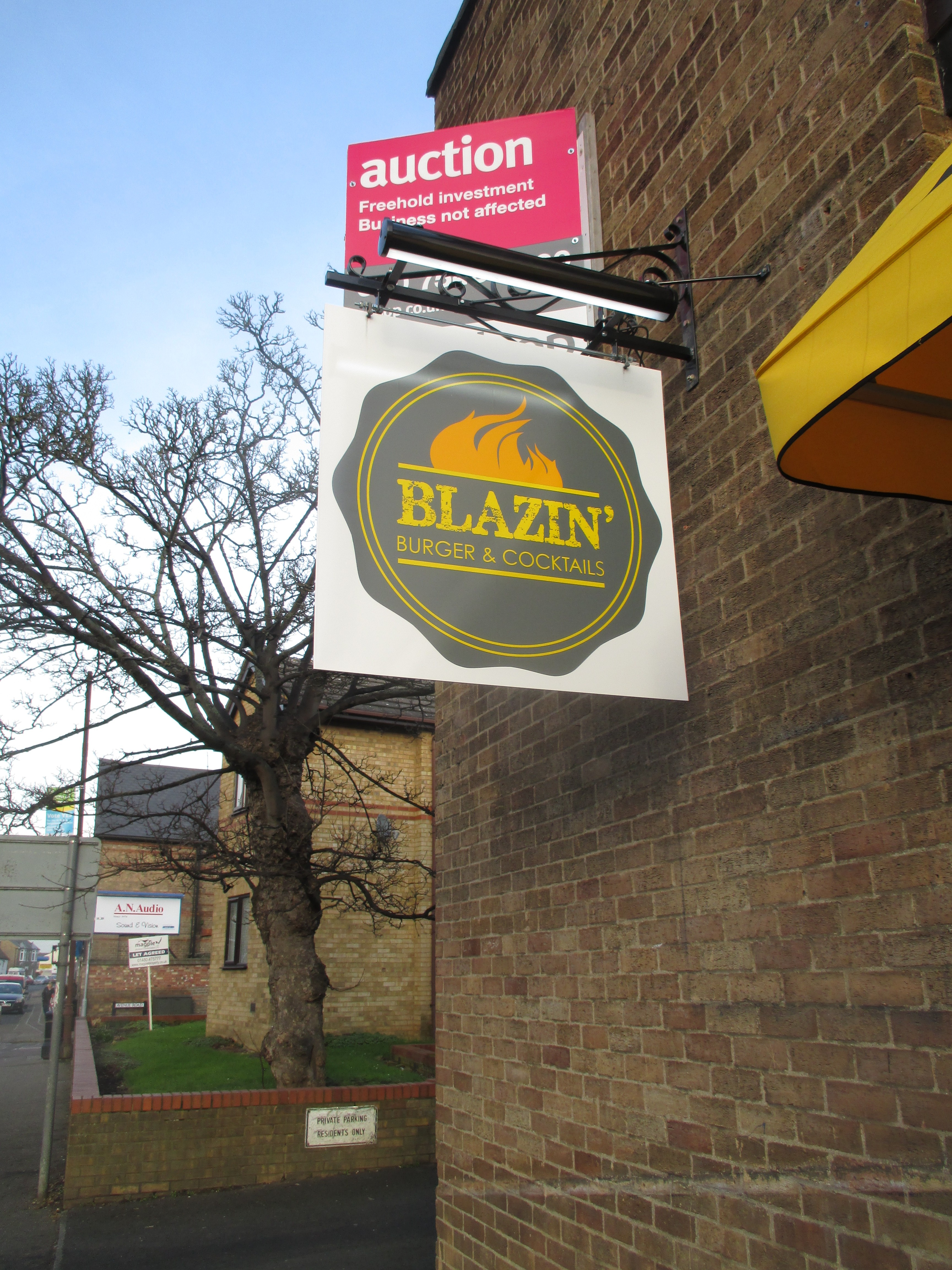 Blazin Burger Huntingdon Street Jan 11th 2016