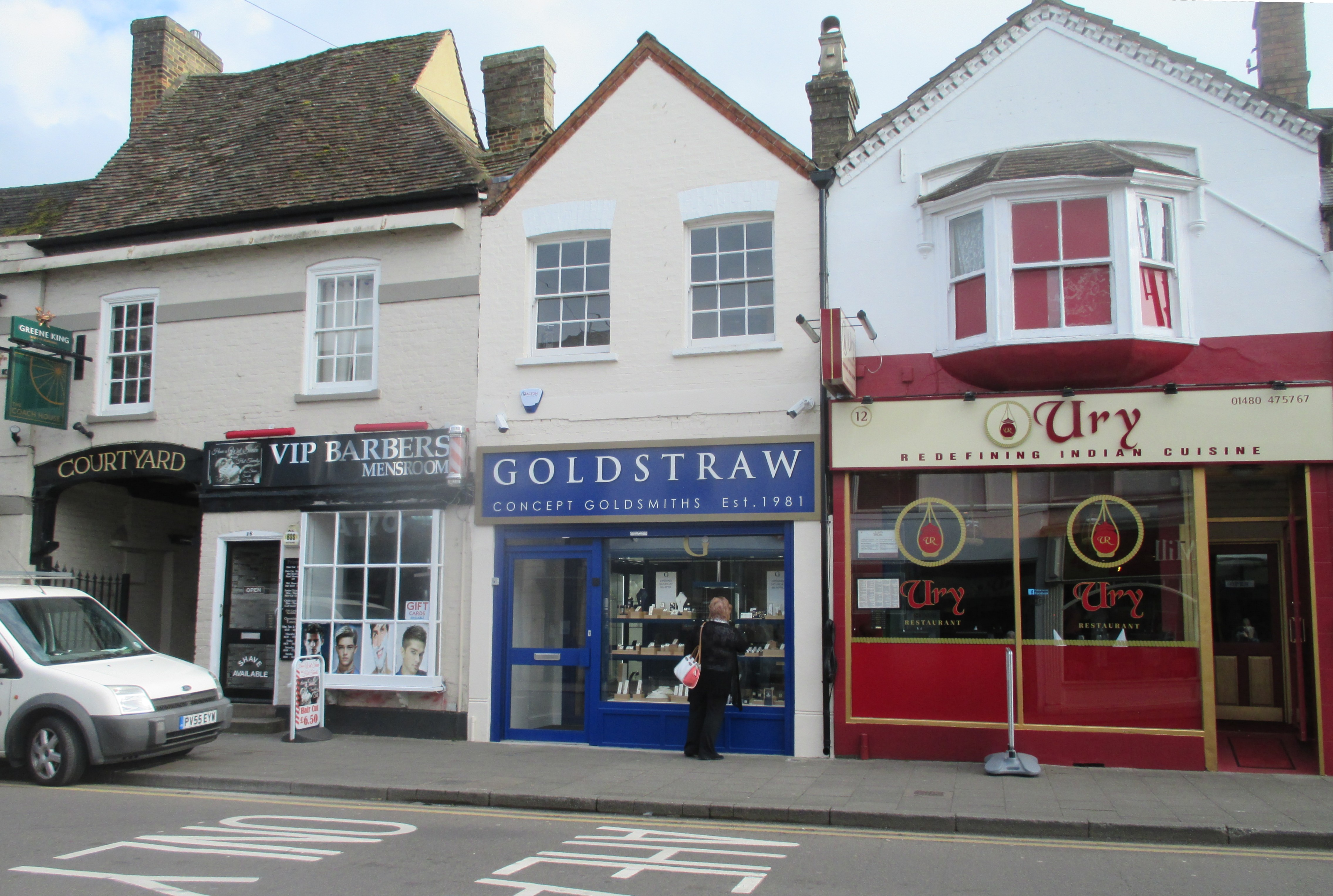 Vip Barbers Goldstraw Jewellers And Ury Indian Restaurant