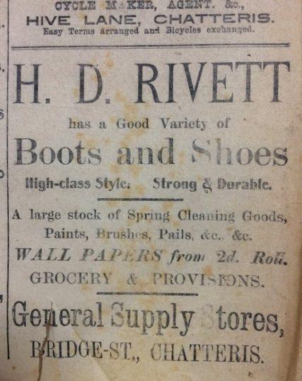 Bridge Street Stores >> Advert Rivett General Supply Stores Bridge Street Chatteris